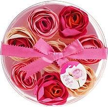 "Parfüm, Parfüméria, kozmetikum Fürdő konfetti ""Rózsa"", 8 db - Spa Moments Bath Confetti Rose"