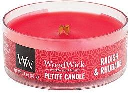 Parfüm, Parfüméria, kozmetikum Illatosított gyertya pohárban - Woodwick Petite Candle Radish & Rhubarb