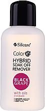 Parfüm, Parfüméria, kozmetikum Hibrid gél eltávolító folyadék - Silcare Soak Off Remover Black Grape