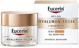 Parfüm, Parfüméria, kozmetikum Öregedésgátló nappali krém minden bőrtípusra - Eucerin Anti-Age Elasticity+Filler Day Cream SPF 30