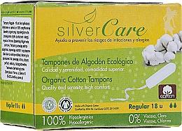 """Parfüm, Parfüméria, kozmetikum Organikus pamut tampon """"Regular """", 18db - Masmi Silver Care"""