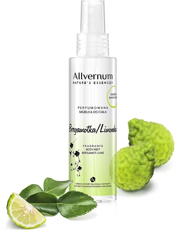 """Parfümözött spray testre """"Bergamott és lime """" - Allverne Nature's Essences Body Mist"""