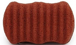 Parfüm, Parfüméria, kozmetikum Arc- és testtisztító szivacs piros agyaggal - Bebevisa Konjac Sponge