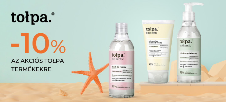 -10% kedvezmény az akciós Tołpa termékekre. A feltüntetett ár a kedvezményt is tartalmazza