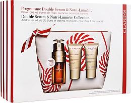 Parfüm, Parfüméria, kozmetikum Szett - Clarins Double Serum & Nutri-Lumiere Set (serum/30ml + cr/15ml + cr/15ml + bag)