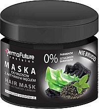 Parfüm, Parfüméria, kozmetikum Hajmaszk aktív szénnel - DermoFuture Hair Mask With Activated Carbon