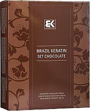 Parfüm, Parfüméria, kozmetikum Szett - Brazil Keratin Intensive Repair Chocolate (shm/300ml + cond/300ml + serum/100ml)