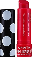 """Parfüm, Parfüméria, kozmetikum Ajakápoló balzsam """"Méhviasz és gránátalma"""" - Apivita Ruby Lips Limited Edition 40 Years Lip Care Pomegranate"""