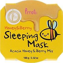 """Parfüm, Parfüméria, kozmetikum Tápláló éjszakai maszk """"Méz és erdei gyümölcs"""" - Prreti Honey & Berry Sleeping Mask"""