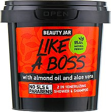 "Parfüm, Parfüméria, kozmetikum Tusoló balzsam és sampon ""Like A Boss"" - Beauty Jar 2 in 1 Energizing Shower & Shampoo"