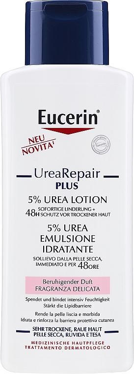 Gyengéd hidratáló lotion száraz bőrre - Eucerin UreaRepair PLUS Lotion 5% Urea — fotó N1