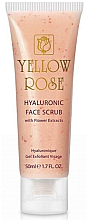 Parfüm, Parfüméria, kozmetikum Peeling hialuronsavval és virágkivonatokkal - Yellow Rose Hyaluronic Face Scrub