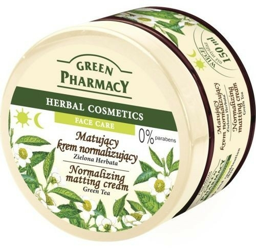 "Mattító arckrém ""Zöld tea"" - Green Pharmacy Normalizing Matting Cream"