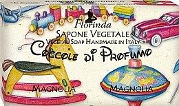 "Parfüm, Parfüméria, kozmetikum Természetes szappan ""Magnólia"" - Florinda Sapone Vegetale Magnolia Vegetal Soap Handmade"