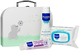 Parfüm, Parfüméria, kozmetikum Szett - Mustela With Love (wipes/25szt + b/gel/200ml + cr/50ml + bag)