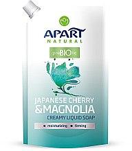 """Parfüm, Parfüméria, kozmetikum Folyékony krémszappan """"Japán meggy és mangólia"""" - Apart Natural Japanese Cherry & Magnolia Soap (utántöltő)"""