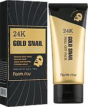 Parfüm, Parfüméria, kozmetikum Szövetmaszk 24 karátos arannyal és csigamucinnal - FarmStay 24K Gold Snail Peel Off Pack