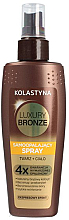 Parfüm, Parfüméria, kozmetikum Önbarnító spray arcra és testre - Kolastyna Luxury Bronze Tanning Spray