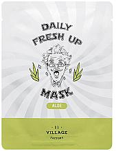 Parfüm, Parfüméria, kozmetikum Szövetmaszk aloe vera kivonattal - Village 11 Factory Daily Fresh Up Mask Aloe