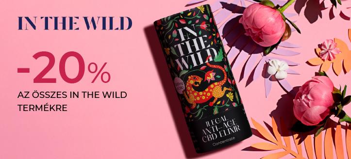 -20% kedvezmény az összes In The Wild termékre. A feltüntetett ár a kedvezményt is tartalmazza