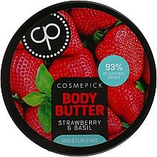 Parfüm, Parfüméria, kozmetikum Hidratáló testvaj eper és bazsalikom kivonattal - Cosmepick Body Butter Strawberry & Basil