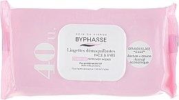 Parfüm, Parfüméria, kozmetikum Arctisztító törlőkendő, 40db - Byphasse Make-up Remover Wipes Milk Proteins All Skin Types