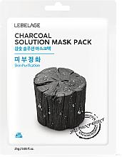 """Parfüm, Parfüméria, kozmetikum Szövetmaszk """"Faszén"""" - Lebelage Charcoal Solution Mask"""