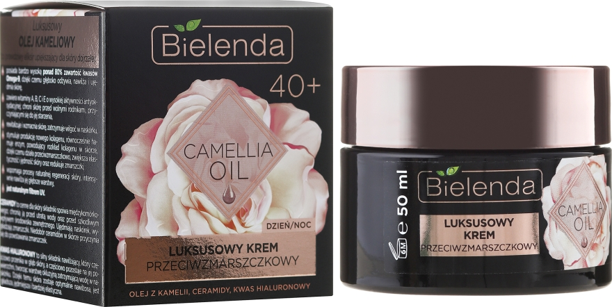 Ráncok elleni hidratáló krém koncentrátum 40+ - Bielenda Camellia Oil Luxurious Anti-Wrinkle Cream 40+