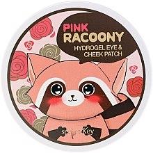Parfüm, Parfüméria, kozmetikum Hidrogél szem- és arctapasz - Secret Key Pink Racoony Hydro-Gel Eye & Cheek Patch