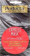 Parfüm, Parfüméria, kozmetikum Arcmaszk szénnel és zöld agyaggal - Perfecta Express Mask