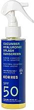 Parfüm, Parfüméria, kozmetikum Napvédő spray - Korres Cucumber Hyaluronic Splash Sunscreen SPF50