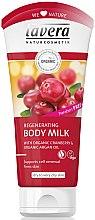 """Parfüm, Parfüméria, kozmetikum Bio testápoló tej """"Argánfa és áfonya"""" - Lavera Regenerating Body Milk With Organic Cranberry & Organic Argan Oil"""