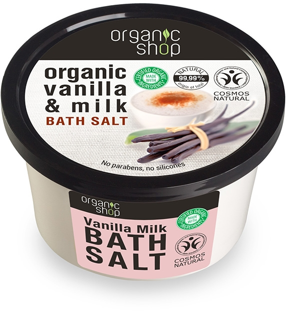 "Fürdősó ""Vanília tej"" - Organic Shop Baths Salt Organic Vanilla & Milk"