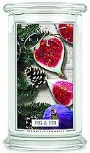 Parfüm, Parfüméria, kozmetikum Illatgyertya üvegben - Kringle Candle Fig & Fir