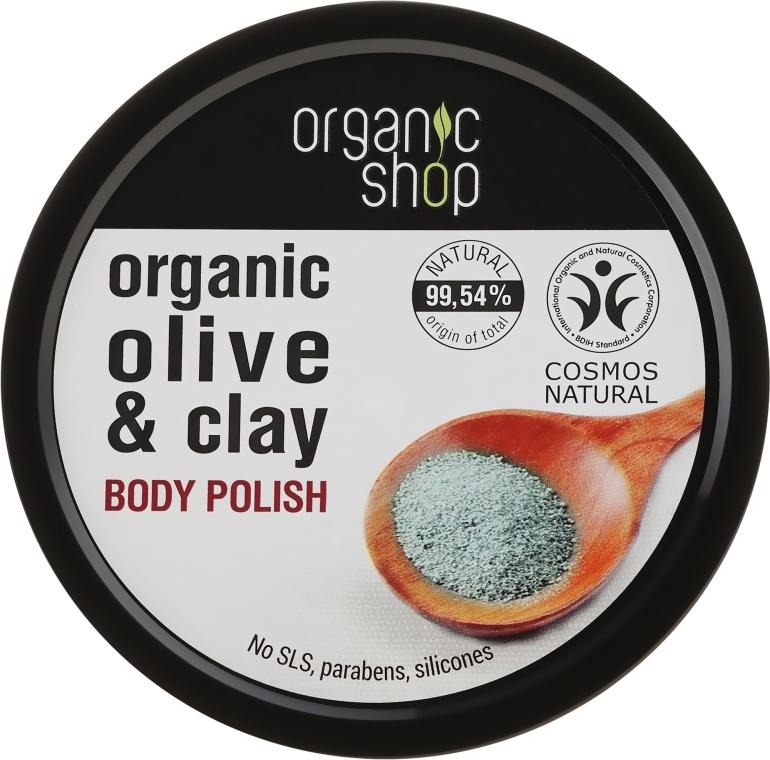 "Testradír ""Kék agyag"" - Organic Shop Body Scrub Organic Olive & Clay"