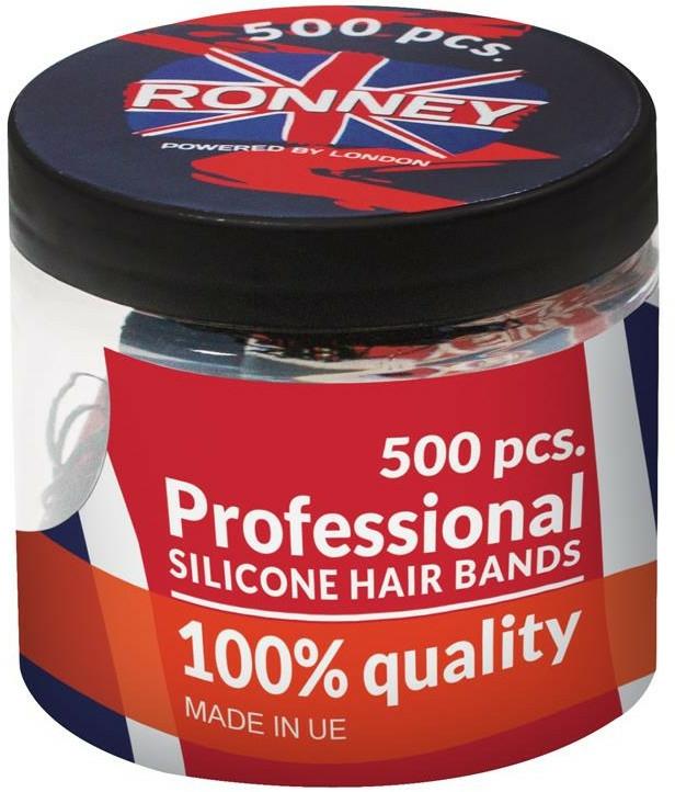Szilikon hajgumi, átlátszó - Ronney Professional Silicone Hair Bands