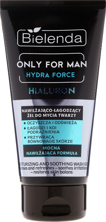 Hidratáló arclemosó gél - Bielenda Only For Man Hydra Force Hialuron Face Wash Gel