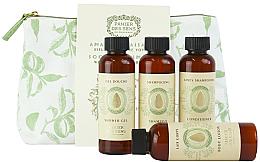 Parfüm, Parfüméria, kozmetikum Készlet - Panier des Sens Body Care Travel Set Soothing Almond (sh/gel/70ml + shmp/70ml + lot/70ml + cond/70ml)