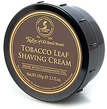 "Parfüm, Parfüméria, kozmetikum Borotva krém ""Dohány"" - Taylor of Old Bond Street Tobacco Leaf Shaving Cream Bowl"