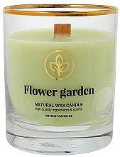 Parfüm, Parfüméria, kozmetikum Dekoratív gyertya pohárban, 8x9.5cm - Artman Flower Garden