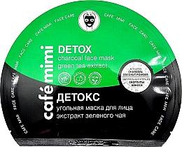 """Parfüm, Parfüméria, kozmetikum Szövet szénmaszk """"Detox"""" - Cafe Mimi Detox Charcoal Face Mask Green Tea Extract"""