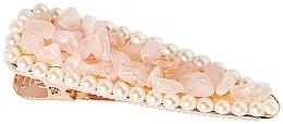 """Parfüm, Parfüméria, kozmetikum Hajcsat """"Rózsakvarc"""" - Crystallove Rose Quartz Hair Clip"""