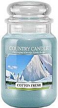 Parfüm, Parfüméria, kozmetikum Illatgyertya üvegben - Country Candle Cotton Fresh
