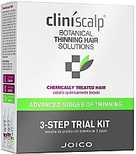 Parfüm, Parfüméria, kozmetikum Kopaszodás elleni intenzív komplexum festett hajra - Joico Cliniscalp 3-step Trial Kit For Chemically Treated Hair Advanced Stages (shmp/100ml + cond/100ml + treat/50ml)