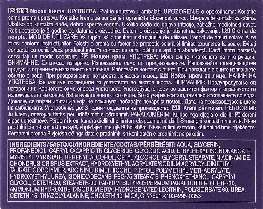 Ránctalanító éjszakai krém protinollal - Anew Platinum..