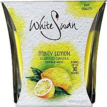 """Parfüm, Parfüméria, kozmetikum Illatosított gyertya """"Mentás citrom"""" - White Swan Lovely Minty Lemon"""
