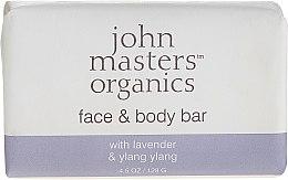 Parfüm, Parfüméria, kozmetikum Szappan testre és arcra - John Masters Organics Lavender Rose Geranium & Ylang Ylang Face & Body Bar