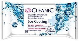 Parfüm, Parfüméria, kozmetikum Frisítő nedves törlőkendő 15 db - Cleanic Ice Cooling Wipes