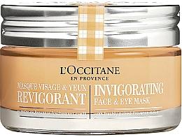 Parfüm, Parfüméria, kozmetikum Helyreállító arcmaszk - L'Occitane Invigorating Face & Eye Mask