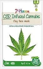 Parfüm, Parfüméria, kozmetikum Agyagmaszk kenderolajjal - 7th Heaven CBD Infused Cannabis Clay Face Mask